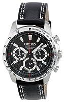Reloj Seiko SSB033P1 de cuarzo para hombre con correa de acero inoxidable, color negro de Seiko