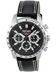 Seiko Herren-Armbanduhr Chronograph Quarz Leder SSB033P1