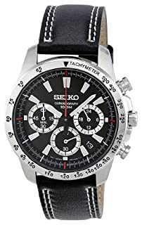 Seiko Men's Analogue Quartz Watch with Calfskin Strap - SSB033 (B007554Y0U) | Amazon Products