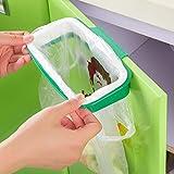 Kingt Auffangschale für Küchenabfälle Müllsackhalter für Müllbeutel und Tüten Einfach zu montierender Sackhalter Zum Einhängen OAK01G