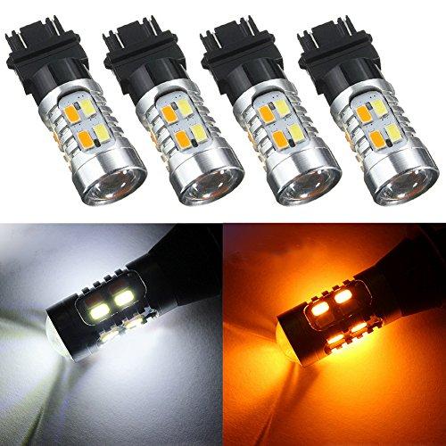 Taben 1157 BAY15D 7528 LED Switchback ampoules double Couleur Blanc/ambre extrêmement Super Bright Queue de lamps Praking Frein lumière LED 12 V (2-Pack)