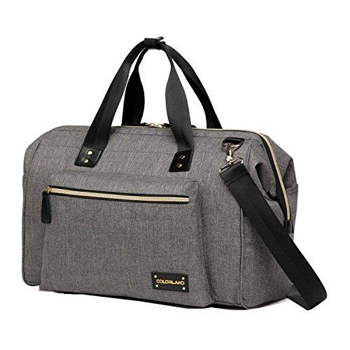 BigForest Maternity Multifunctional Mummy Travel Tote Bag Handtaschen Shoulderbag Baby Wickeltasche diaper Nappy Changing Bag Grey