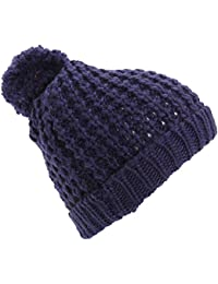 Textiles Universels Bonnet à pompom - Femme
