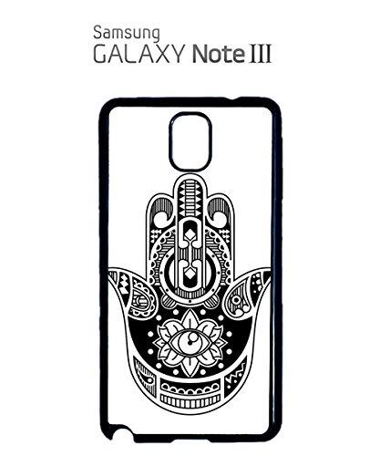 Hamsa Hand Tattoo Khamsa Protection Symbol aztec Eye Mobile Phone Case Samsung Galaxy S5 Mini White Noir