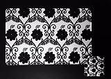 Kuber Industries Black & White Print Tab...