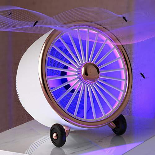 Heligen Lampara Mata Mosquitos Electrico 360 ° LED Luz de Onda Guiada Mosquito Killer Lamp, Sin Productos Químicos con Luz Ultravioleta Anti-Polillas (Blanco)