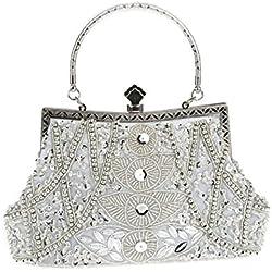 Bolso color plata con brillantes para Novia - varios modelos a elegir
