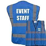 Blue Hi Vis Vest EVENT STAFF Waistcoat Safety Vest Plus a Brook Hi Vis UK Discount Co...