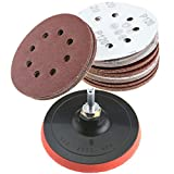 50Pcs Schleifscheiben Klett-Schleifpapier Stützteller Schleifteller Polierteller Disc Schleif 125mm x 8mm