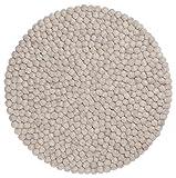 myfelt Béla Filzkugel-Tischset/Platzdeckchen, rund, Schurwolle, grau, Ø 36 cm
