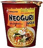 Nong Shim Neoguri Instantnudeln Spicy Seafood Flavour – Koreanische Cup Suppe scharf - schnelle Zubereitung – 12er Pack à 62g