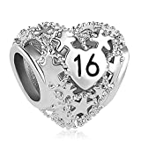 Sug Jasmin Sweet 16 Charm 16th Birthday Beads For Bracelets