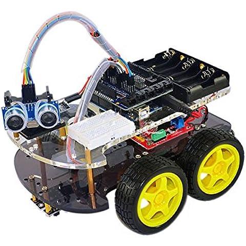 weikedz uno supporto per Smart Robot Car Kit con unità a, uno r3modulo di tracking, Link, Sensore a Ultrasuoni, telecomando, ect. Newest intelligente ed educativo auto per bambini - Modulo Di Controllo Staffa