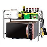 Warenregal Guo Shop- Edelstahl-Multifunktions-Finishing-Rahmen Mikrowellen-Backofen Regal Desktop-Boden Küche Rack Schränke Racks