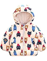 87ba4eb3647f Voberry Baby Boys Girls Fleece Lined Puffer Jacket Coat Padded Light Hooded  Outerwear