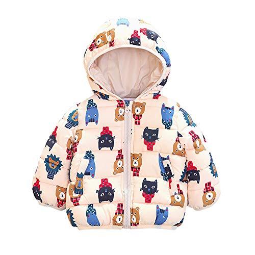 Kinder Mäntel Sunnydrain Kinderjacken Hoodie Muster Lose Reißverschluss Winter Warm Herbst Kapuzen Outerwear Baumwolle Langarm