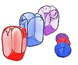 CreativeVia Foldable Clothes Laundry Hamper Bag Storage ,set of 3 Laundry Bag