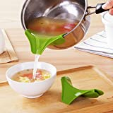 #10: ShopAIS Creative Silicone Slip on Pour Soup Anti-spill Spout Funnel for Pots Pans and Bowls and Jars Kitchen Gadget Tool (ASSORTED COLOR WILL BE SEND)