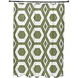 E por diseño más abrazos y besos impresión geométrica cortina de ducha, verde