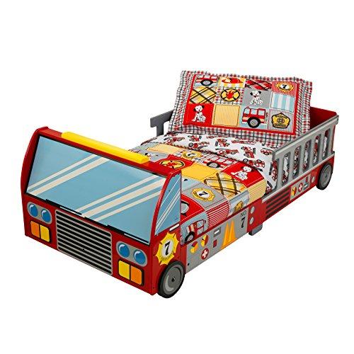 feuerwehrbett KidKraft 76031 Feuerwehrauto Kinderbett aus Holz für Kleinkinder Möbel für Kinderzimmer