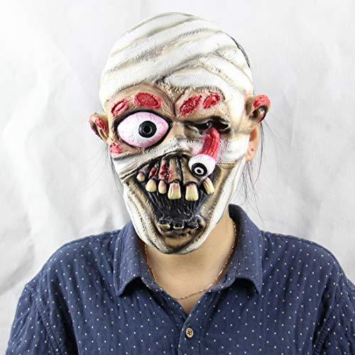 HLLPG Halloween-Mama-Zombie Maske Latex Partei Horror Erwachsene Scary Kostüm Zubehör Neuheit Masken Kopfmaske
