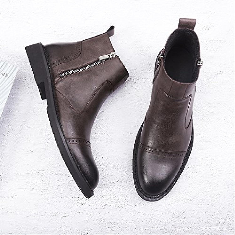 Gli uomini sono casualmente stivali stivali stivali corrispondono corrispondono corrispondono vintage chelsea martin,42,Marronee   Fornitura sufficiente  add404
