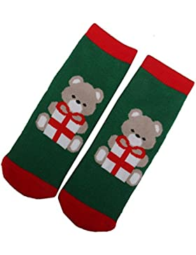 ma-on 1pares para niños bebé ositos Fun de calcetines de Navidad regalos (M 3–5)