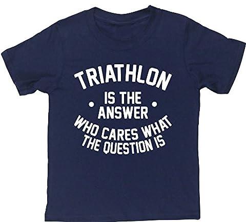 HippoWarehouse - T-shirt - Fille 6 ans - bleu - 13 ans