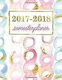 Semesterplaner: Studentenkalender, Wochenplaner und Studentenplaner für Studenten: Rose & Minz-Wasser-Farbwirbel mit Goldschimmer (Geschenkidee: Planer und Kalender fürs Studium)