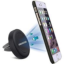Ubegood Air Magnético para Coche Soporte de Smartphone Movil Coche Strong Magnética para iPhone,Samsung,Google Nexus, Huawei, Xiaomi, GPS(Negro)