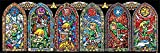 The Legend of Zelda Poster Kirchenfenster Collage (91,5cm x 30,5cm) + Ü-Poster