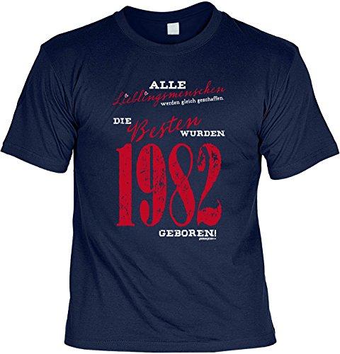 T-Shirt Lieblingsmenschen 1982 geboren T-Shirt zum 35. Geburtstag Geschenk zum 35 Geburtstag 35 Jahre Geburtstagsgeschenk 35-jähriger Navyblau