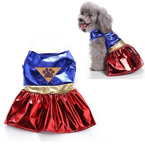 JLCYYSS Haustier Hund Kostüm, Halloween Pet Cosplay Kostüme, Wonder Woman,XL