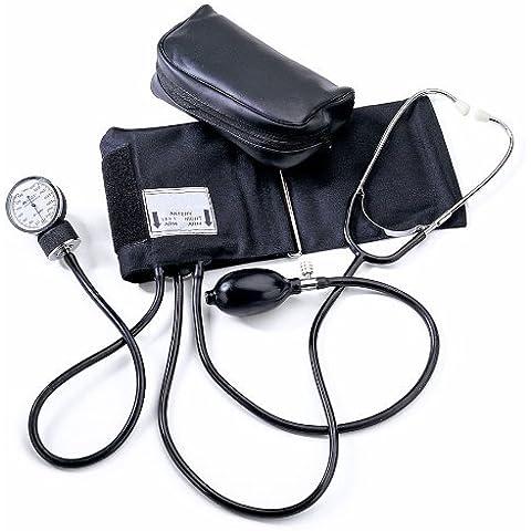 Medline MDS9300 Home Blood Pressure Kits with D-Rings, Latex, Adult, Black by Medline