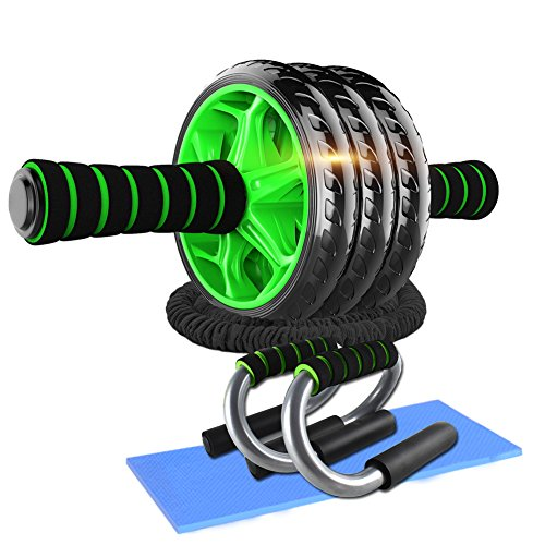 AB Roller Abdominales con 3 Ruedas, AB Wheel,...