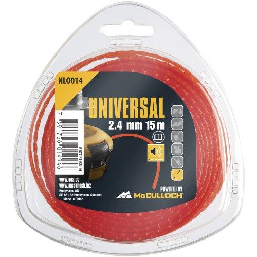 Universal NLO014 Fil nylon rond de débroussailleuse 2,4 x 15 m