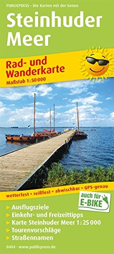 Steinhuder Meer: Rad- und Wanderkarte mit Ausflugszielen, Einkehr- & Freizeittipps, wetterfest, reissfest, abwischbar, GPS-genau. 1:50000 (Rad- und Wanderkarte / RuWK)
