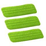 fletion 3Freier Tag-Reinigung für Besen Zerstäuber Reinigung Bezug Ersatz für Besen flach Reinigung Mikrofaser alle Wischbezug Spray die Wischbezug waschbar