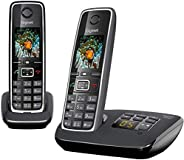 "Gigaset C530A DUO Cordless Phone (Pack of 2) & 1 Answering Machine, 1.8"" TFT Color Screen, 320 Hr Sta"