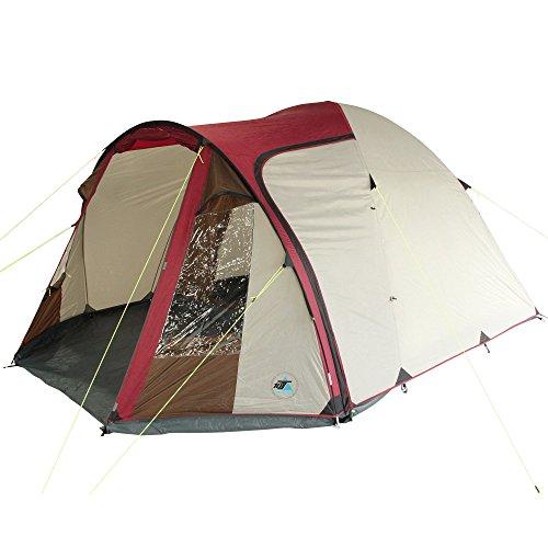 10T Zelt Corowa Red 5 Mann Kuppelzelt wasserdichtes Familienzelt 5000mm Campingzelt + Stehhöhe (Outdoor-einsatz Den Tipi-zelte Für)