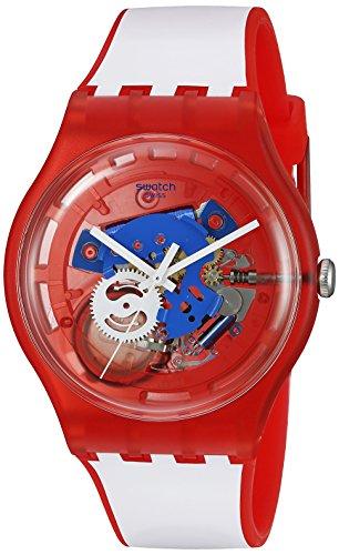 Swatch Unisex Orologio da polso analogico al quarzo silicone suor102