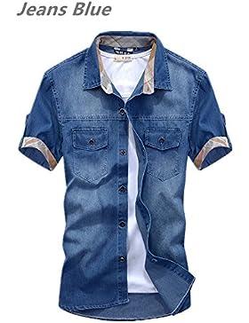 New Fashion pantalones vaqueros para hombre Casual Slim Fit elegante wash-vintage Denim Camisas nz36