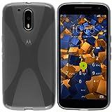 mumbi X-TPU Schutzhülle für Motorola Moto G4 / G4 Plus Hülle transparent schwarz