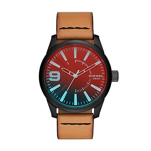 Diesel Reloj Analógico para Hombre de Cuarzo con Correa en Cuero DZ1860