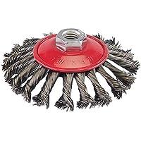 Silverline 580493 - Cepillo cónico de acero trenzado (115 mm)