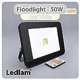 Ledlam Projecteur LED Spot–Avec Capteur 50W 4100FPM–Plat–Blanc neutre