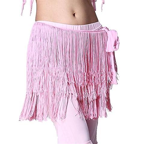 Belly Dance Wrap Belt 3 Rows Tassels Hip Scarf Skirt Costume