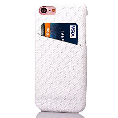 iPhone Case Cover Retour Couverture rigide Motif diamant Lattice carré Grille pour Apple IPhone 7 ( Color : Black , Size : IPhone 7 ) White