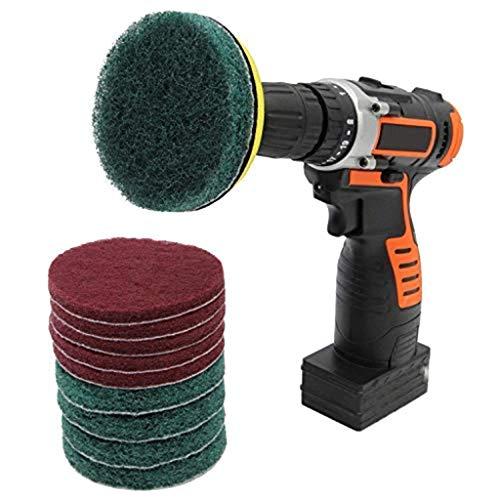 TDFGCR 11 Stück Bürste Power Bohrer Reinigungsbürste Wannenreiniger Combo Tool Kit Perfekt für die Reinigung von Fugenmörtel-Weiß, Rot, Gelb