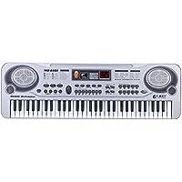 """ammoon Teclado Electrónico LED 21"""" 61 Teclas Juguete de la Música con Micrófono Educativo Electone Regalo de Navidad para Niños"""